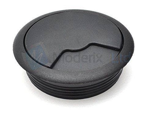 From 0.99:60mm Black Pc Computer Desk Plastic Grommet Table Cable Tidy Wire Hole Cover