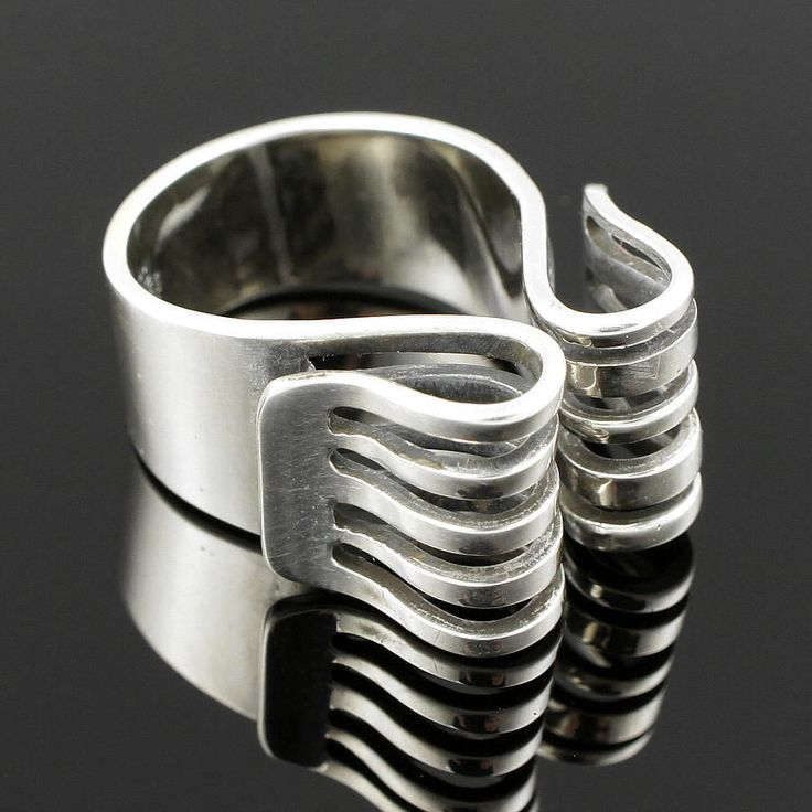 ANNA GRETA EKER Sterling-Ring, PLUS NORWAY, 60s (Silber, 925 Norwegen +)