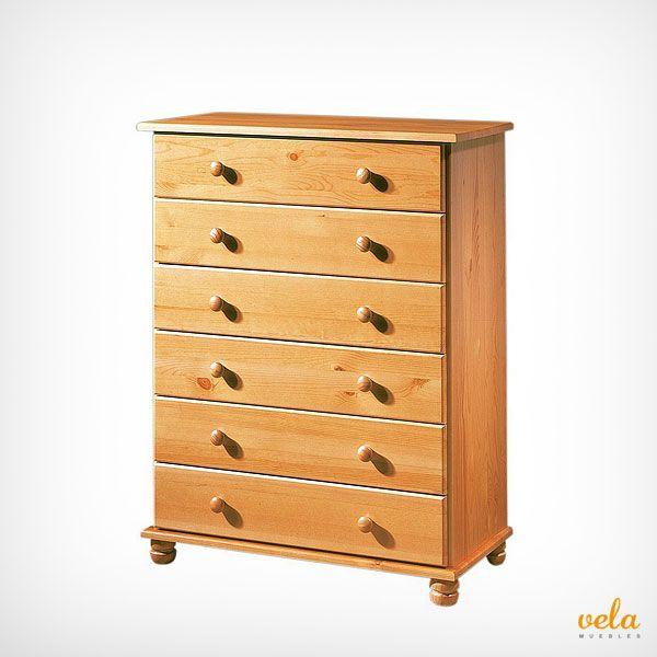 Bonita cómoda rústica de madera color miel en oferta. Echa un vistazo ahora