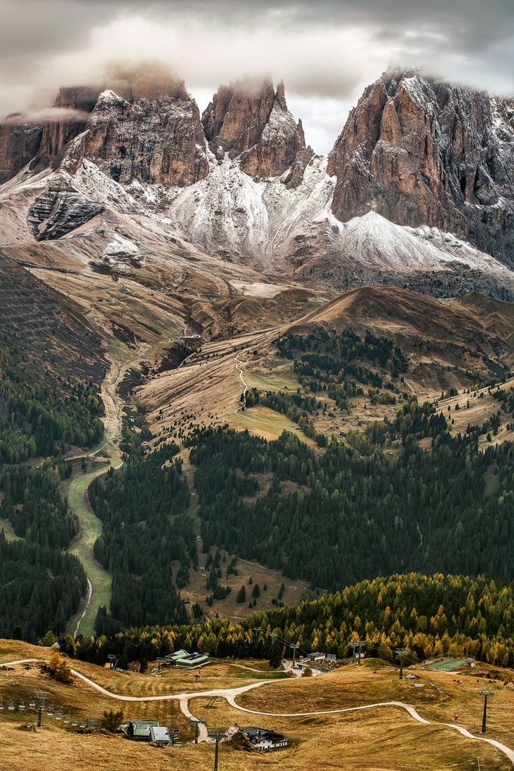 "wonderous-world: "" Dolomites, Italy by Michael Bennati "" vintage 