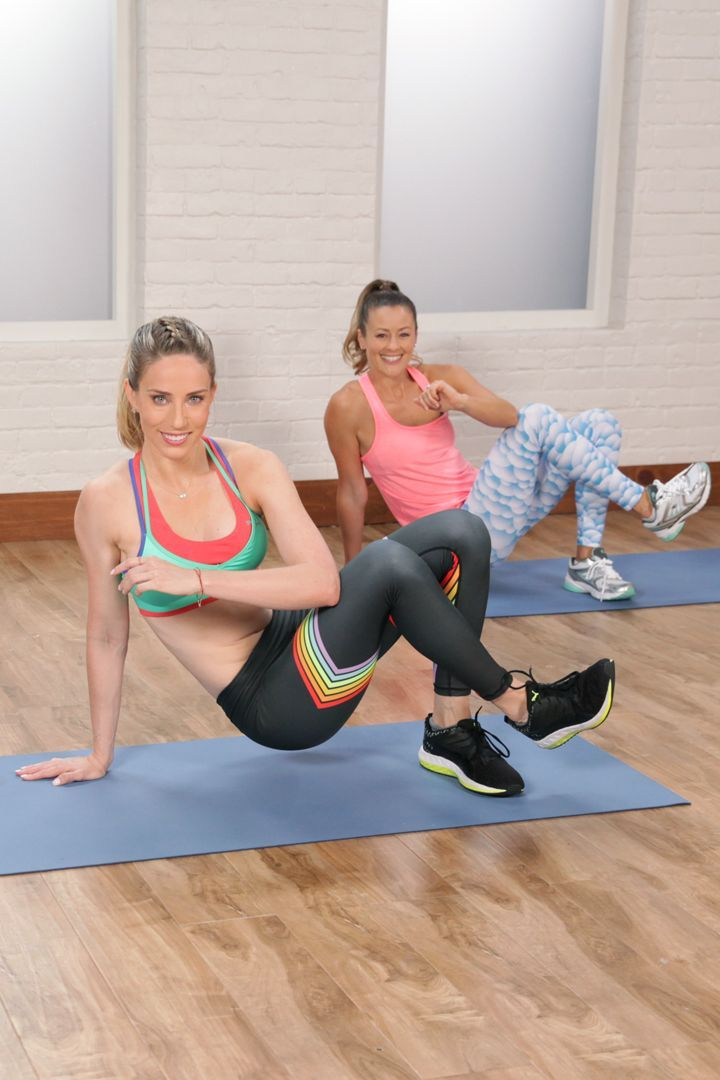 Burpee, squat, and plank your way to a bikini bod with Astrid Swan​ of Barry's Bootcamp.​ You can do this full-body circuit, made up of entirely bodyweight moves, just about anywhere.