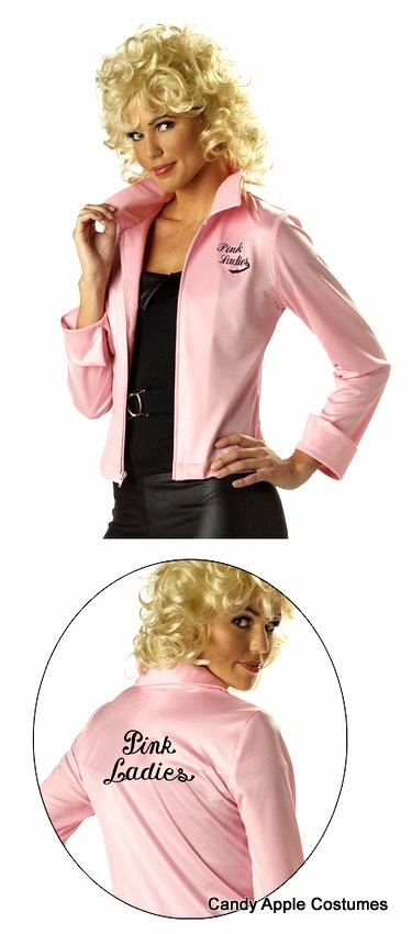 Adult Licensed Grease Pink Ladies Jacket - Grease Costumes - think I will order a few dozen, and Start a CLUB LADIES!