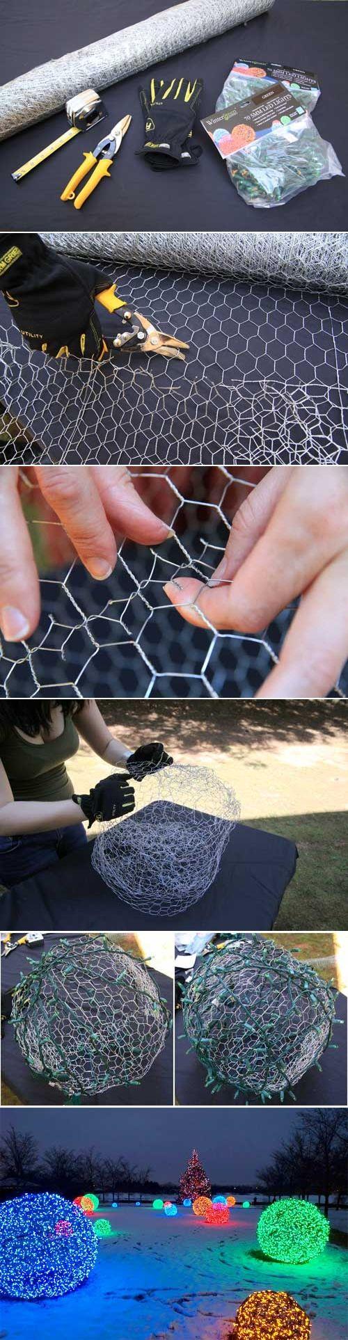 a faire avec des guirlandes sur piles Ikea ou solaire pour le jardin