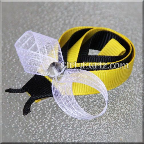 Bumble Bee Hair Clip by GirlyKurlz.com ❤
