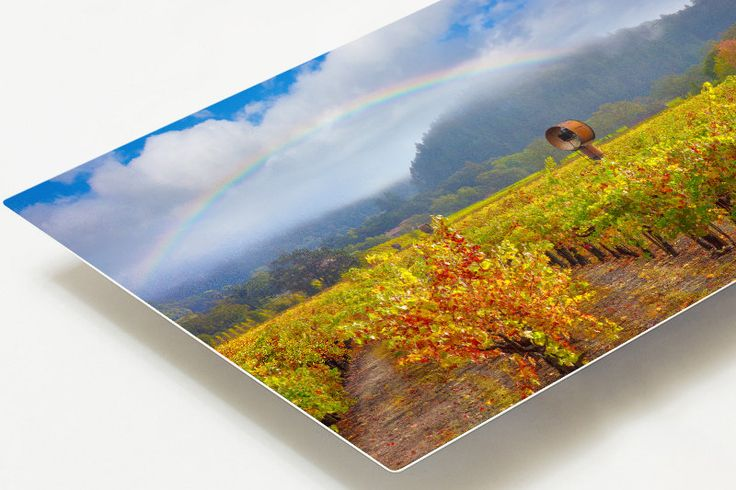 Napa Valley Metal Print, RainbowMetal Home Decor, California Landscape Metal Print, Calistoga Wine Country Art, Vivid Aluminum Metal Print by SusanTaylorPhoto on Etsy