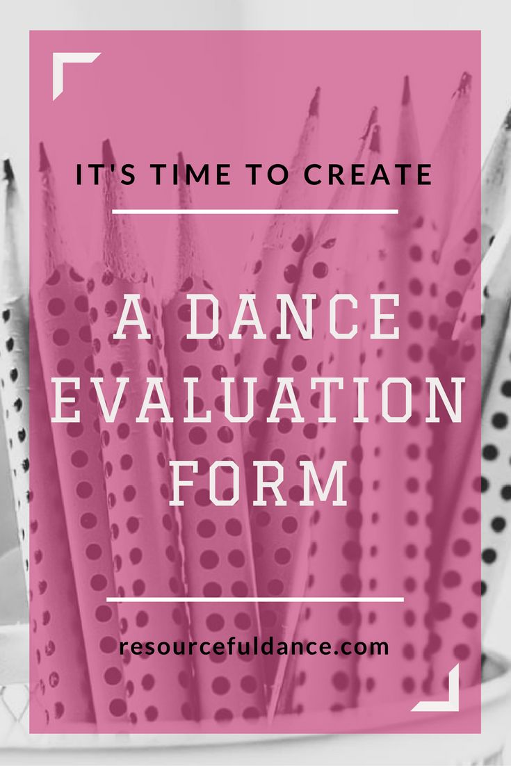 Create a dance evaluation form for your students with the help of this great article! FREE template included!!