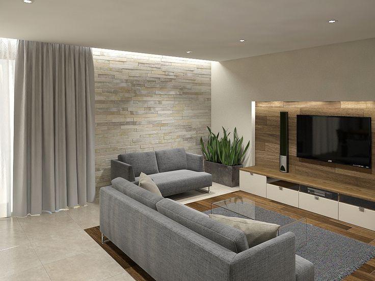 betonowa ściana pod tv - Szukaj w Google | L*I*V*I*N*G R*O ...