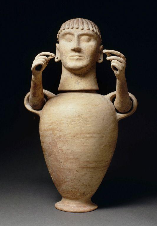 Vase « canope » 1e quart du VIe siècle avant J.-C. Chiusi, Italie    Site officiel du musée du Louvre