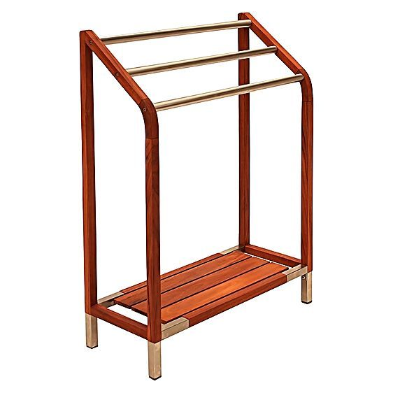 Teak Towel Rack by Hudson Furniture