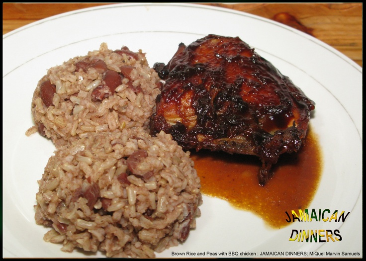 ... Rice and peas on Pinterest | Baked jerk chicken, Jamaican rice and