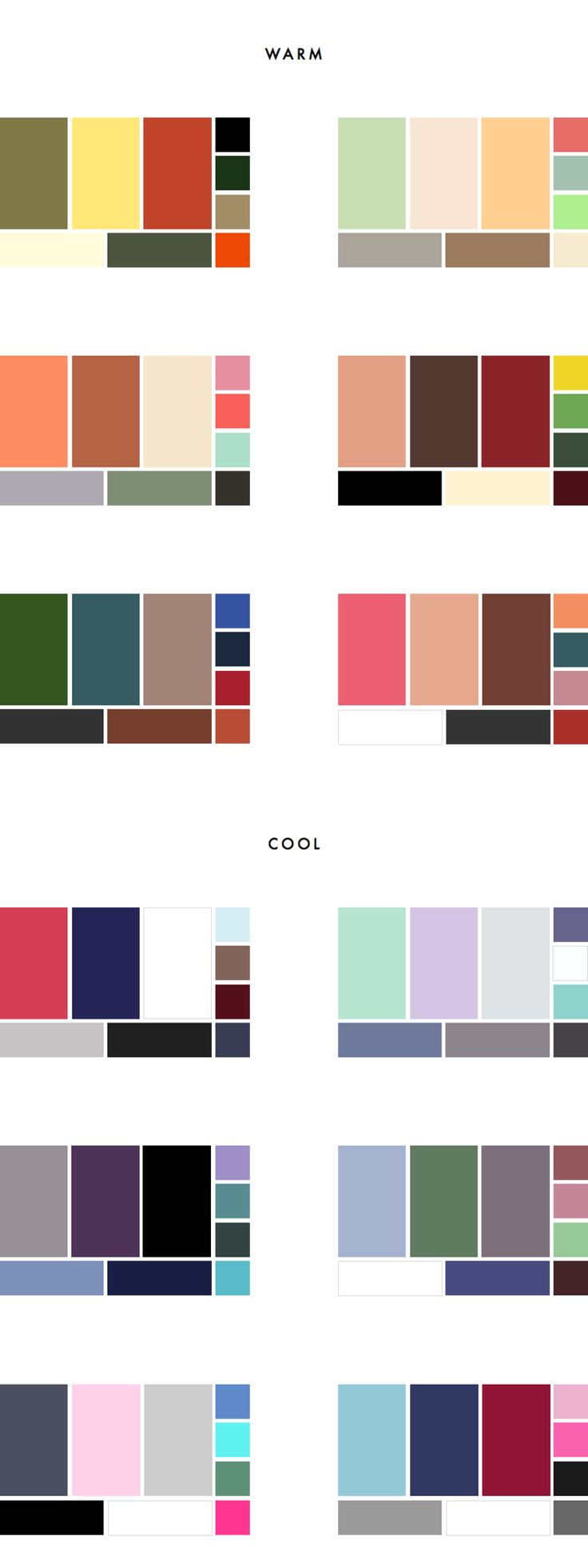 36 Colour Palettes for your Wardrobe Part I: Warm vs Cool - Capsule Wardrobe - Style Guide