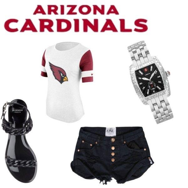 Arizona Cardinals Ladies Game Day Outfit #AZCardinals #NFLStyle