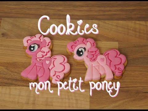 Cookies mon petit poney facile pour Natoo | My little pony cookies | Cake design - YouTube
