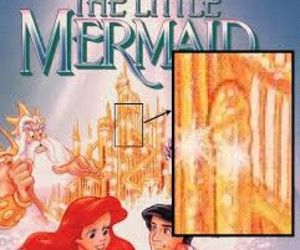 In the middle of the castle in the background there is a large golden penis. The artist is the one who revealed this detail. He had just found out that he was being fired. To get even, he put in the penis and then notified the press after the VHS was distributed. It created such a scandal that Disney redid all of the covers and re-released it. You'll have to find the original cover to see this scandalous moment.