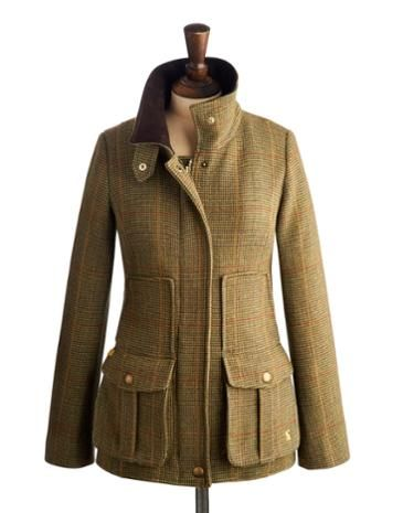 Joules Women's Semi-Fitted Tweed Coat, Mr Toad.                     Set this tweed women's country sports coat firmly in your sights and capture true country style. Completely timeless and made to last season, after season, after season. In rugged tweed and featuring the functional features and delightful details you've come to know and love. A true Joules twist on a classic.