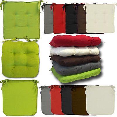 Stuhlkissen Sitzkissen Stuhl Auflage Polster Gartenstuhl Garten Sitz Kissen Floor Chair Furniture Home Decor