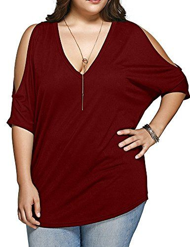 Special Offer: $15.25 amazon.com Measurement:1X(Bust:47.2″,Length:29.9″),2X(Bust:51.18″,Length:30.7″),3X(Bust:55.1″,Length:31.4″),4X(Bust:59″,Length:32.2″)Soft Cotton Fitted Material,Comfortable and BreathableFeatures Batwing Half Sleeves With...