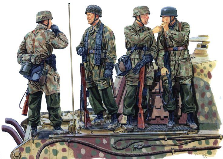 German 3rd Fallshirmjager Div., Ardennes, 1944.