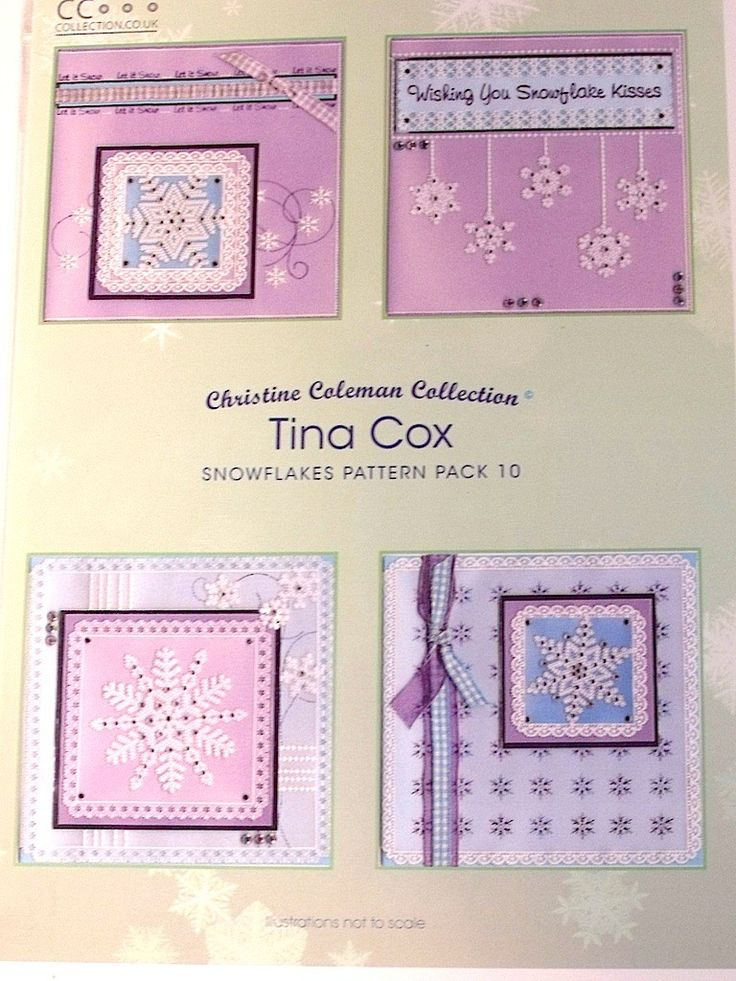 PATTERN PACK 10 - SNOWFLAKES BY TINA COX    Pattern pack Flower Fun by Tina Cox.