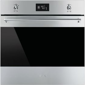 Smeg stainless steel oven with 16 cooking functions (model SFPA6390X)  for sale at L & M Gold Star (2584 Gold Coast Highway, Mermaid Beach, QLD). Don't see the Smeg product that you want on this board? No worries, we can order it in for you!