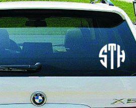 Circle Car Monogram