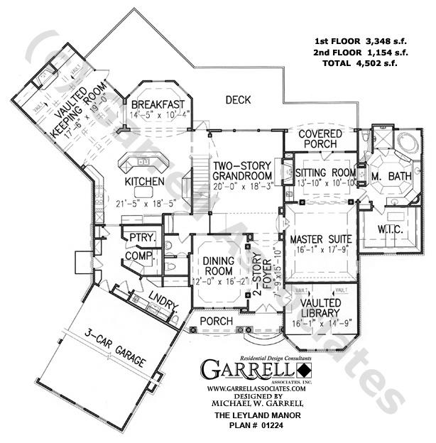 Leyland manor house plan 01224 1st floor plan european for European manor house plans