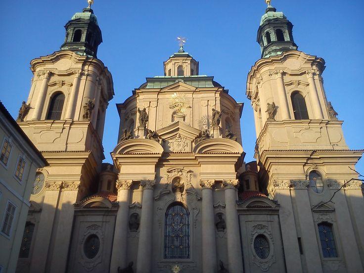 Kostel svatého Mikuláše na Staroměstském náměstí - Saint Nicholas Church on the Old town square is built in 1732 - 37 (high baroque) by Kilián Ignác Dientzenhofer.