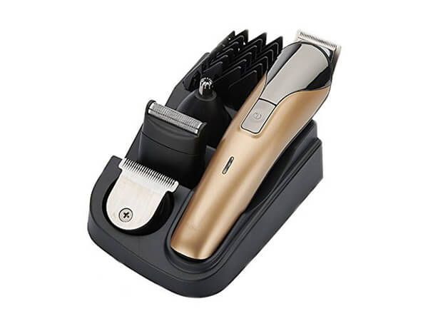 YUNAI Professional 8 In 1 Electric Blade Men's Trimmer of Body & Ear & Nose Men's Hair Clipper Electric Shaver Razor Beard Trimmer Rechargeable Cutting Machine Haircut Men's Personal Care Electric Nose Ear Trimmer Groomer Shaver Cordless Adjustable Fast Charge 2 Hours EU Plug