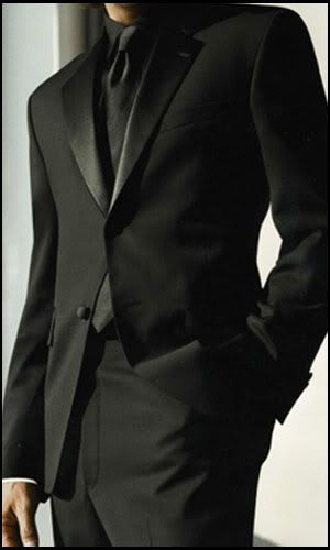 Seriously love the Black on Black suit/tux idea. love this for the groomsmen, then have the groom in white and black.