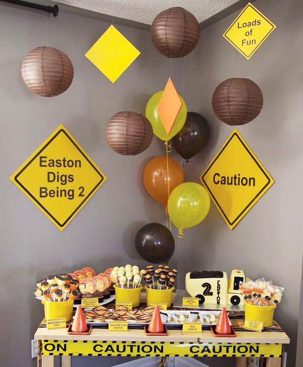Creative Construction Themed Birthday Party