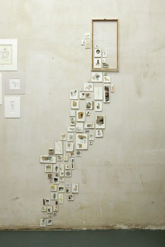 A neat way to display wall art