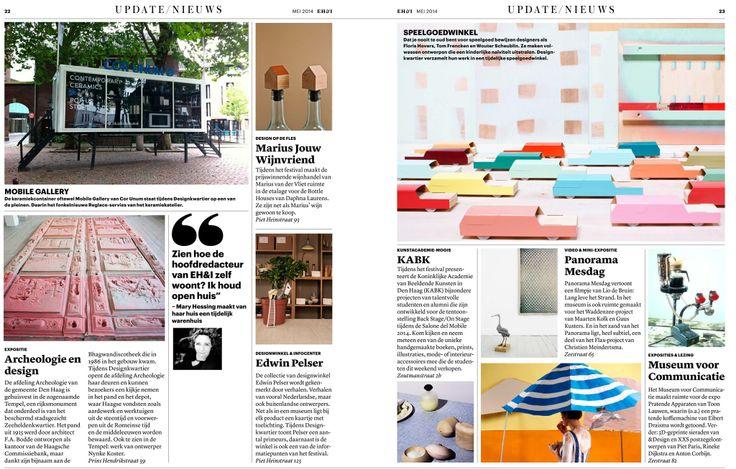 KABK in Eigen Huis & Interieur. Met werk van Nynke Koster (alumnus) en Louise Rietvink (student)
