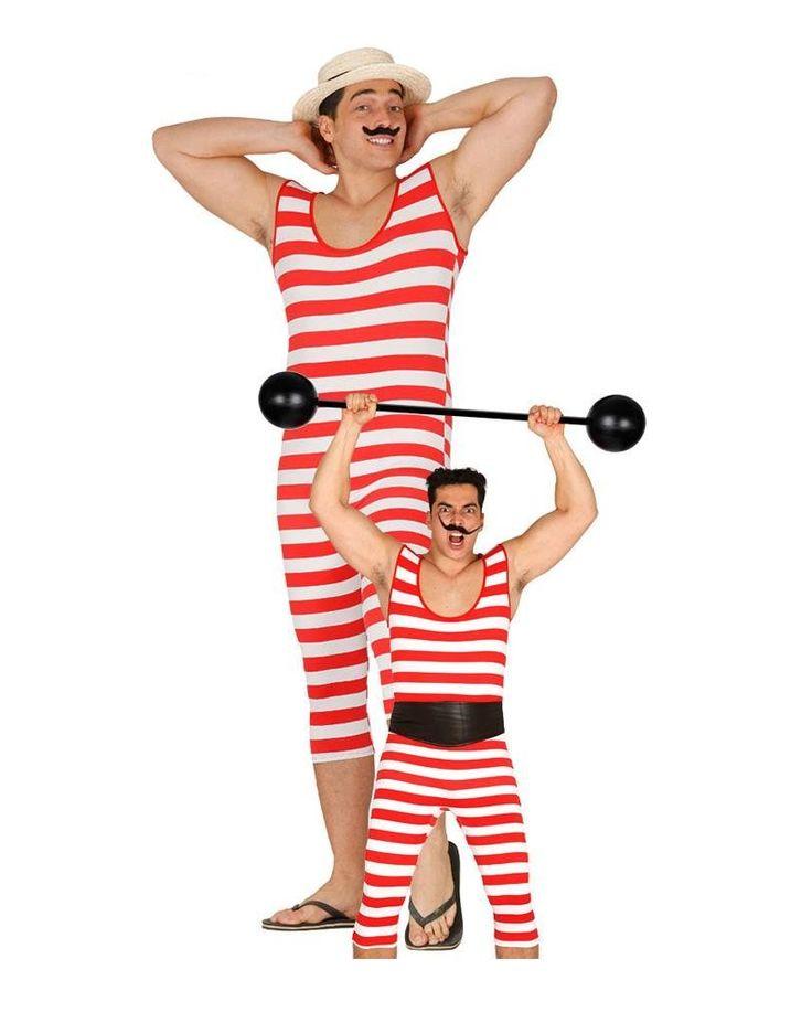 Rot-weißer Retro Badeanzug für Herren One Size: Amazon.de: Spielzeug