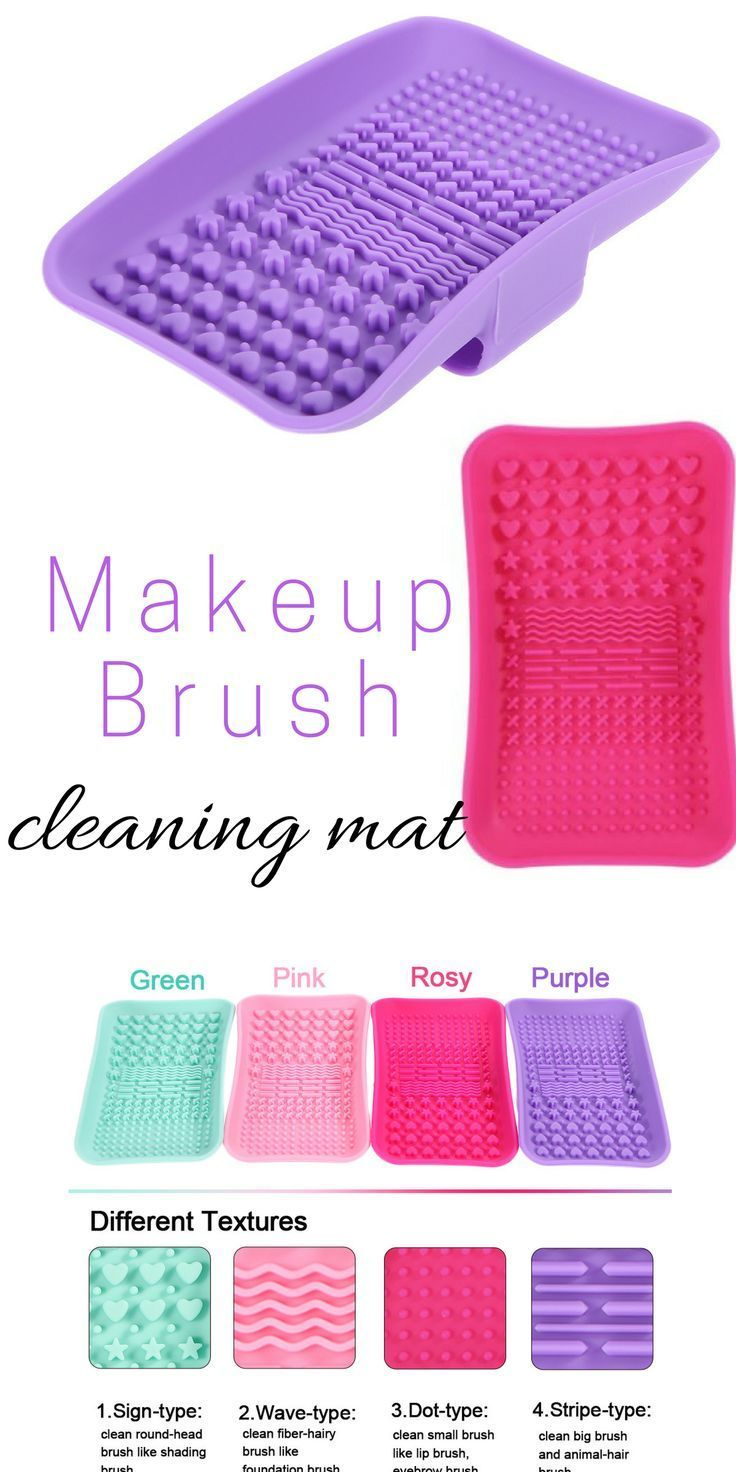 The perfect makeup brush cleaning mat