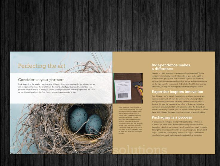 Capabilities brochure, design by Tall Girls Design