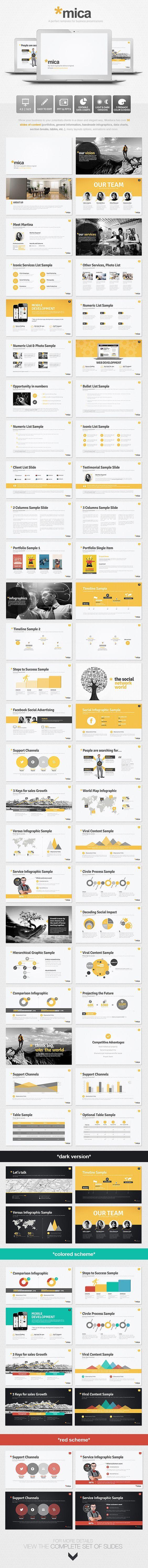 Mica Powerpoint Presentation Template PowerPoint Template / Theme / Presentation / Slides / Background / Power Point #powerpoint #template #theme: