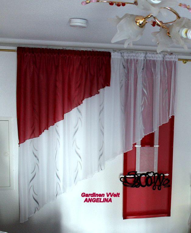 120 besten gardinen bilder auf pinterest fensterdekorationen jalousien und gardinen rollos. Black Bedroom Furniture Sets. Home Design Ideas