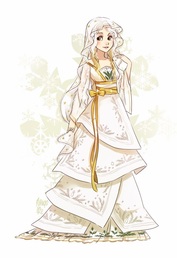 Christmas wafer by meago.deviantart.com on @deviantART. I like the layering! It's very pretty and elegant. <3
