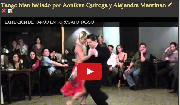 Ayer la milonga, hoy el tango, ella una diosa en un buen bailarí que salió sub campeón mundial. Dejanos tu comentario x fa.