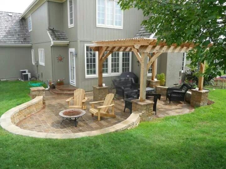 20 best images about patio shapes on Pinterest | Fire pits ... on Patio Shape Designs id=43674