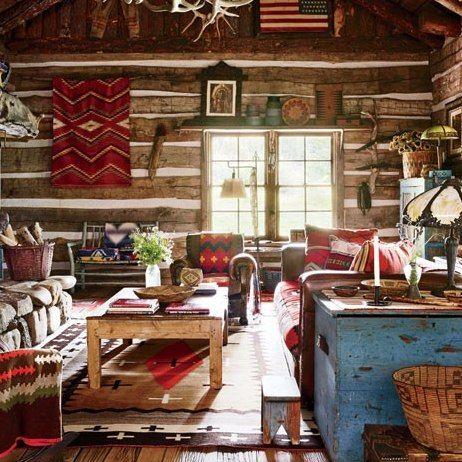 Rustic Bedford Ralph Lauren Living Room