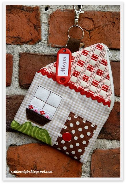 House Zippered Pouch