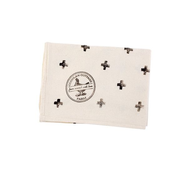 Hand-Printed Crosses Tea Towels by Coghlan Cottage Farm
