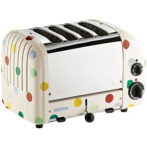 Dualit Emma Bridgewater NewGen Toaster, 4-Slice, Polka Dots