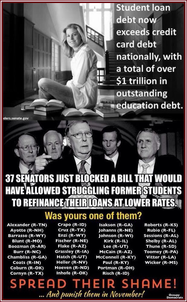 Want to help your children and the future of our country, vote them out Nov 4th 2014