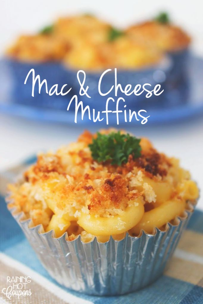 Mac & Cheese Muffins - love this idea when having a crowd of friends over....make ahead and pop in the oven!