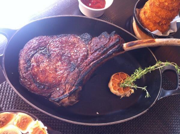Steak at the Grosvenor