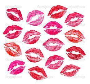 conjunto de hermosos labios rojos - Imagen de stock: 19386051
