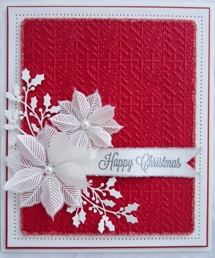 Best 25 Poinsettia Cards Ideas On Pinterest