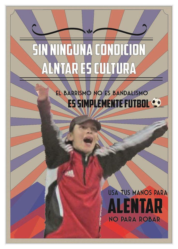 Afiche para campaña de fútbol en paz